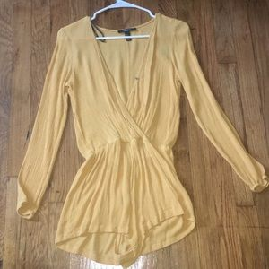 Yellow Romper Forever 21 Teens/Woman